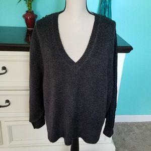 💖 Zara Knit Thick V Neck Sweater Large